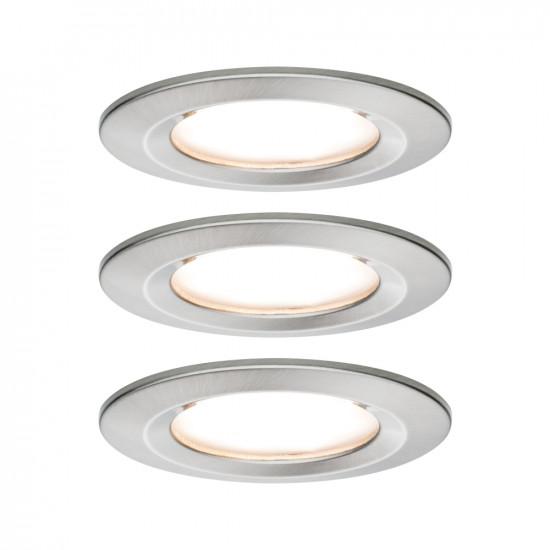 Paulmann 93458 Einbauleuchte LED Coin Nova rund 6,5W Eisen 3er-Set starr