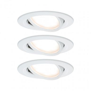 Paulmann 93485 Einbauleuchte LED Coin Nova rund 6,5W Weiß 3er-Set schwenkbar 3-Stufen-Dimmbar