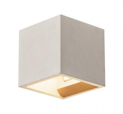 SLV Solid Cube Wandleuchte G9 grau aus Beton