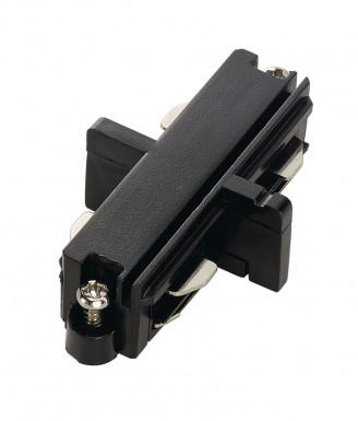 SLV Längsverbinder für Hochvolt 1Phasen-Aufbauschiene schwarz elektrisch