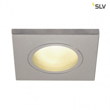SLV DOLIX OUT GU10 Downlight eckig IP65 silbergrau