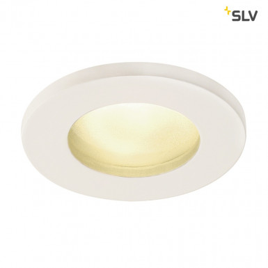 SLV DOLIX OUT GU10 Downlight rund IP65 weiß