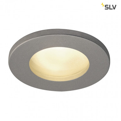 SLV DOLIX OUT GU10 Downlight rund IP65 silbergrau