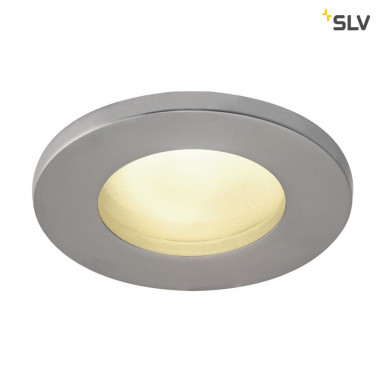 SLV DOLIX OUT GU10 Downlight rund IP65 chrom matt