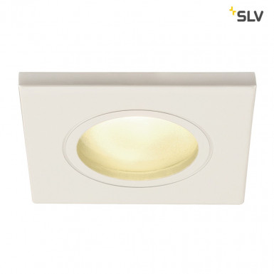 SLV DOLIX OUT GU10 Downlight eckig IP65 weiß