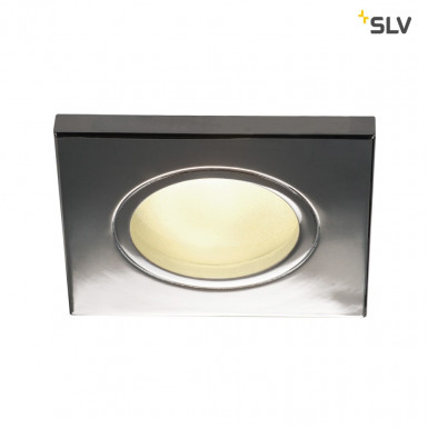 SLV DOLIX OUT GU10 Downlight eckig IP65 chrom