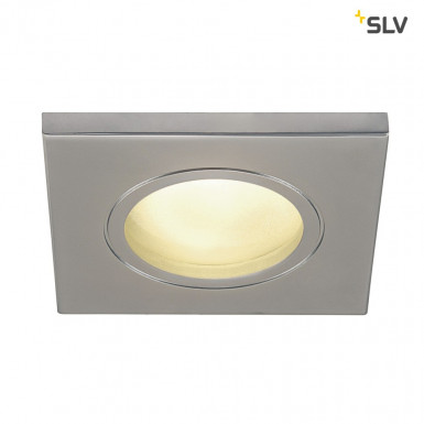SLV DOLIX OUT GU10 Downlight eckig IP65 chrom matt