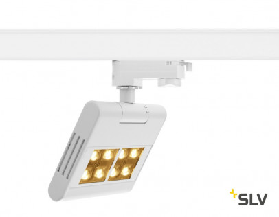 SLV Lenito Track LED 23W 2500lm weiß 3000K inkl. 3P.-Adapter