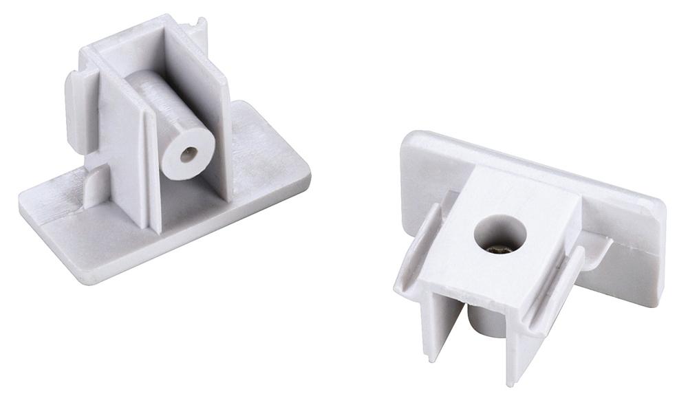 Längsverbinder für 1-Phasen HV-Stromschiene weiß