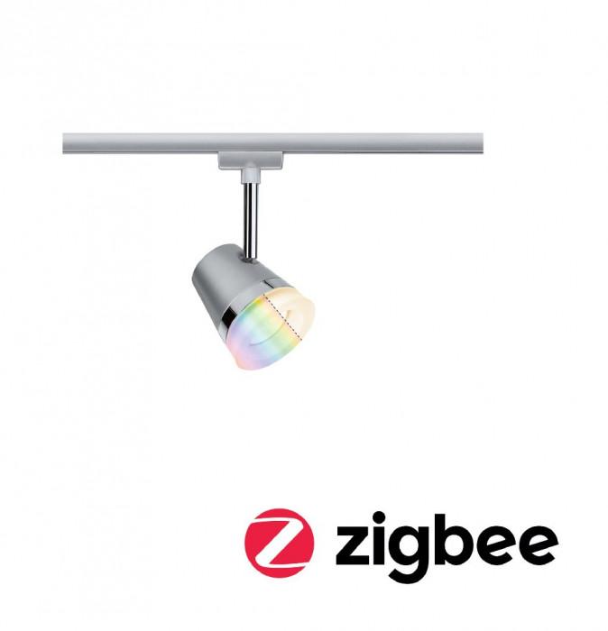 Paulmann 95525 Smart Home Zigbee URail Spot Cone RGBW Chrom matt 5,5W inkl. Leuchtmittel