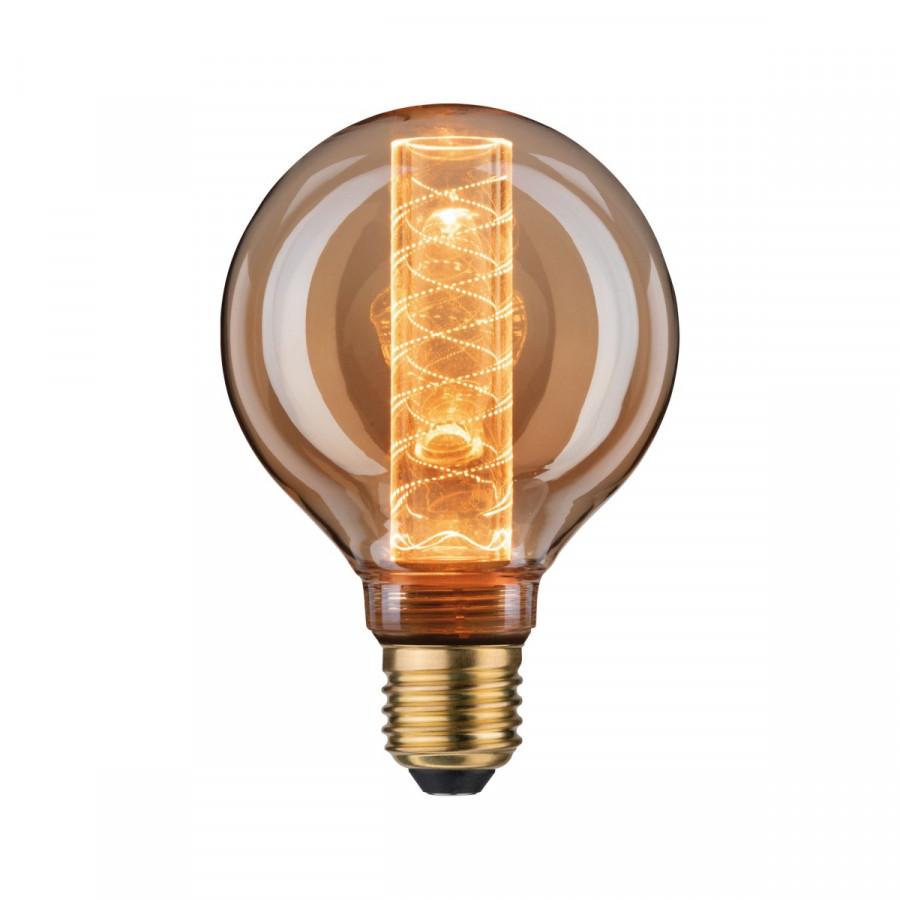 Paulmann 28602 LED Vintage-Globe G95 Inner Glow 4W E27 Gold mit Innenkolben Spiralmuster