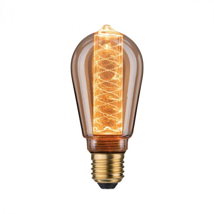 Paulmann 28598 LED Vintage-Kolben ST64 Inner Glow 4W E27 Gold mit Innenkolben Spiralmuster